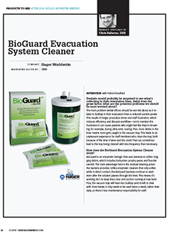 BioGuard Evacuation System Cleaner
